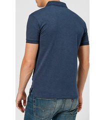 polo ralph lauren men's slim fit soft cotton polo shirt - spring navy heather - xl - navy