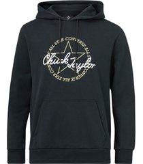 huvtröja deconstructed chuck patch pullover hoodie