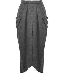 isabel marant anthracite grey virgin wool skirt