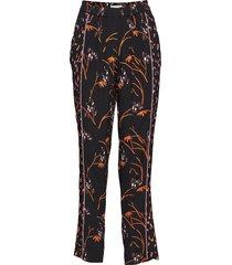 pants in hibiscus print casual byxor svart coster copenhagen