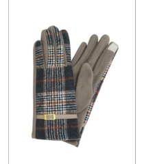 marcus adler plaid jersey touch glove with buckle