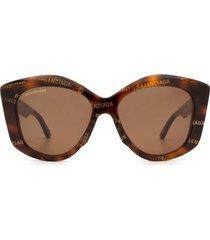 balenciaga balenciaga bb0126s havana sunglasses