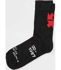 river island mens mcmlx black printed socks