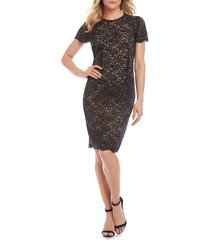 women's karen kane paris lace cocktail dress, size x-large - brown