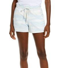 rachel parcell drawstring shorts, size medium in blue cloud at nordstrom