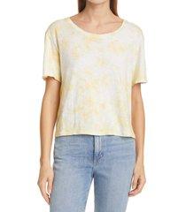 loveshackfancy calix tie dye t-shirt, size medium in lemon drop hand dye at nordstrom