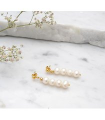 kolczyki z perłami for4 pozłacane srebro