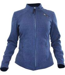 jaquetas de fleece azteq flock feminina azul