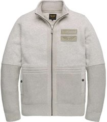 zip jacket fleece sweat bone
