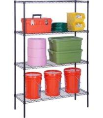 honey can do 4-tier shelving unit, black
