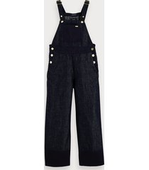scotch & soda cotton linen-blend wide-leg jumpsuit