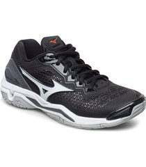 wave stealth v shoes sport shoes training shoes- golf/tennis/fitness svart mizuno