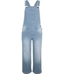 salopette di jeans elasticizzata a pinocchietto wide (blu) - john baner jeanswear