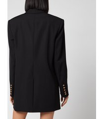 balmain women's 6 button boyfriend jacket dress - black - fr 38/uk 10