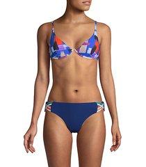 abstract-print bikini top