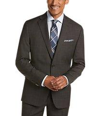 lauren by ralph lauren brown blue windowpane classic fit suit
