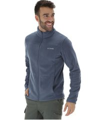 jaqueta de frio fleece columbia western ridge full zip - masculina - azul