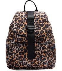topshop leopard print backpack - brown