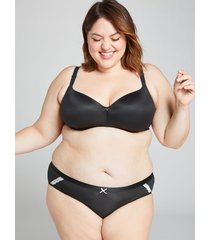 lane bryant women's extra soft hipster panty 22/24 black