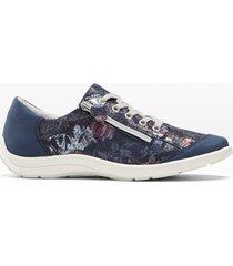sneaker in pelle comode larghezza h (blu) - bpc selection