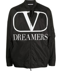 black and white dreamers logo jacket
