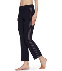 calzedonia cropped flare leggings with side insert woman blue size l
