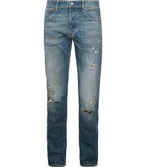 g-star raw men's 3301 slim-fit distressed jeans - faded ripper - size 32 32