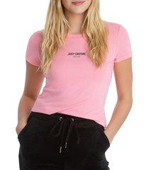 juicy couture women's logo t-shirt - orange - size m