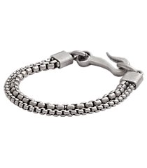 jos. a. bank antiqued silver double chain bracelet