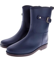 botas de lluvia mediana impermeable top buckle bottplie - azul