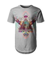 camiseta masculina longline étnica tribal africana md09