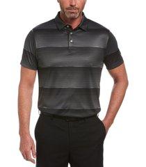 pga tour men's space-dyed stripe polo shirt