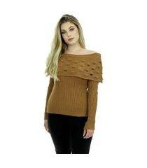 blusa tricot feminina inverno jenifer shopping do tricô cigana