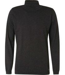 no excess pullover turtleneck dark grey