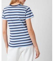 polo ralph lauren women's stripe short sleeve t-shirt - blue/navy/white - m