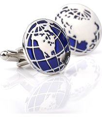 mens vintage vogue exquisite gemello camicia metal globe round gemelli per il regalo di nozze bussiness