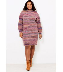 loft loft plus spacedye turtleneck sweater dress