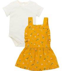 conjunto corto amarillo  offcorss