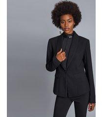 blazer manga longa com gola preto reativo - lez a lez