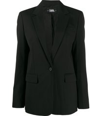 karl lagerfeld tailored piquet jacket - black