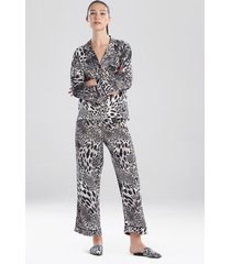 natori jaguar sleep pajamas & loungewear, women's, size l natori