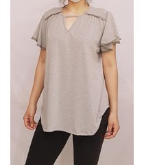 blusa gris pink sisly s110
