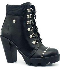 zapato  botin zavatty negro para mujer, modelo ta275