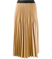 givenchy logo-tape mid-length skirt - neutrals