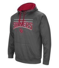 colosseum oklahoma sooners men's poly performance hooded sweatshirt