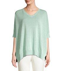 cotton & linen v-neck sweater