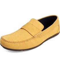 mocasín amarillo colore