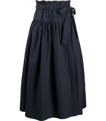 odeeh belted midi skirt - blue