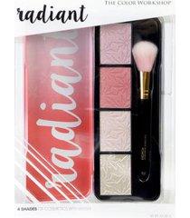 estojo de maquiagem markwins - radiant iluminating and blush 1 un