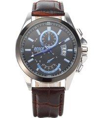 orologio in acciaio inossidabile di cuoio della vigilanza dell'uomo di bosck